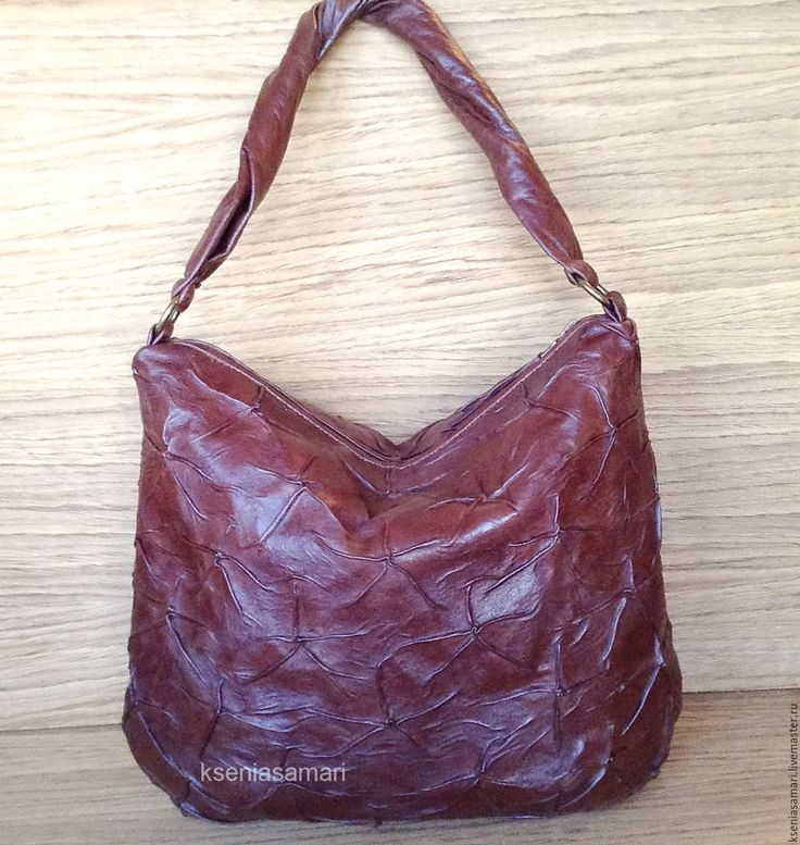 Купить Сумка - мешок из натуральной кожи Vintage broun - коричневый, сумка ручной работы