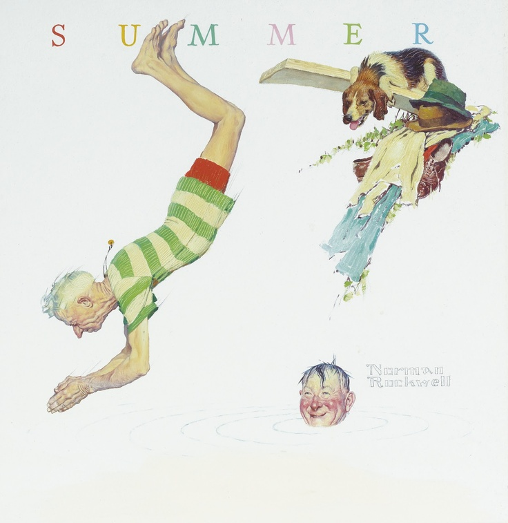 1950 SUMMER by Norman Rockwell