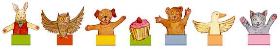 Free finger puppet download.  Site has lots of free paper toys to print.