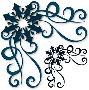 View Design: corner flourished snowflake