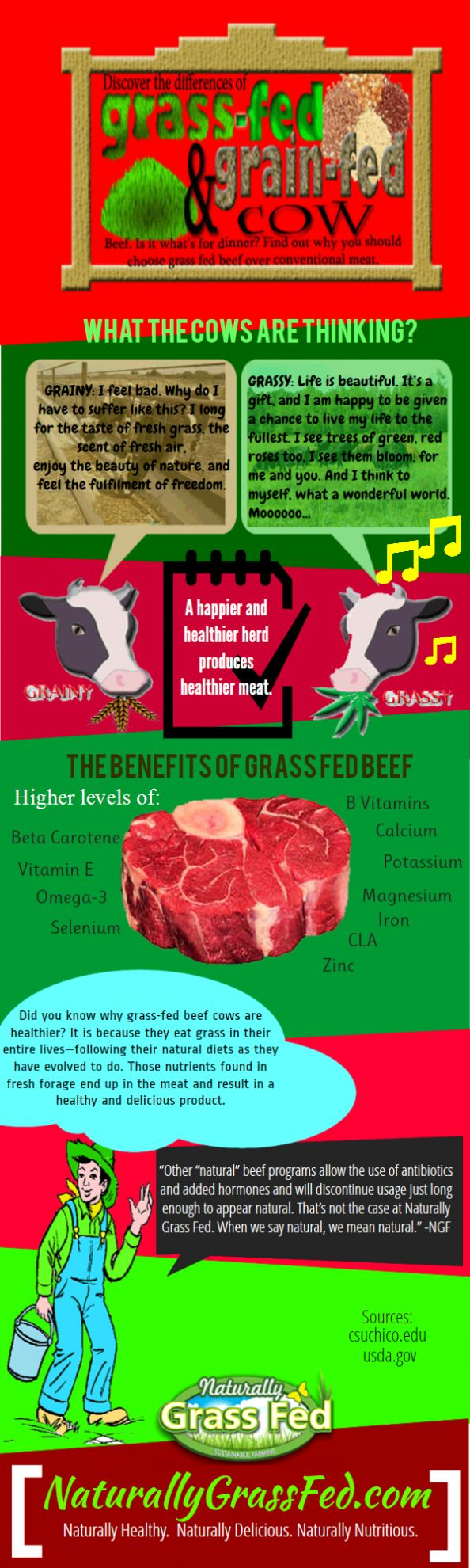 Discover the Benefits of Grass-Fed Meats Infographic… IF you gotta eat beef…