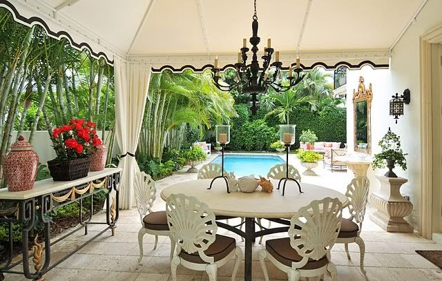 palm beach chic decorating | After: White linenpalazzo pants, an embroidered gauzy turquoise ...