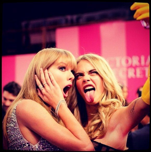 Pin for Later: We Can Only Imagine How Taylor Swift and Her Fashion Squad Will Celebrate Friendship Day Cara Delevingne Cara's low-key kookiness may be the perfect balance to Taylor's girlie style. Source: Instagram user caradelevingne