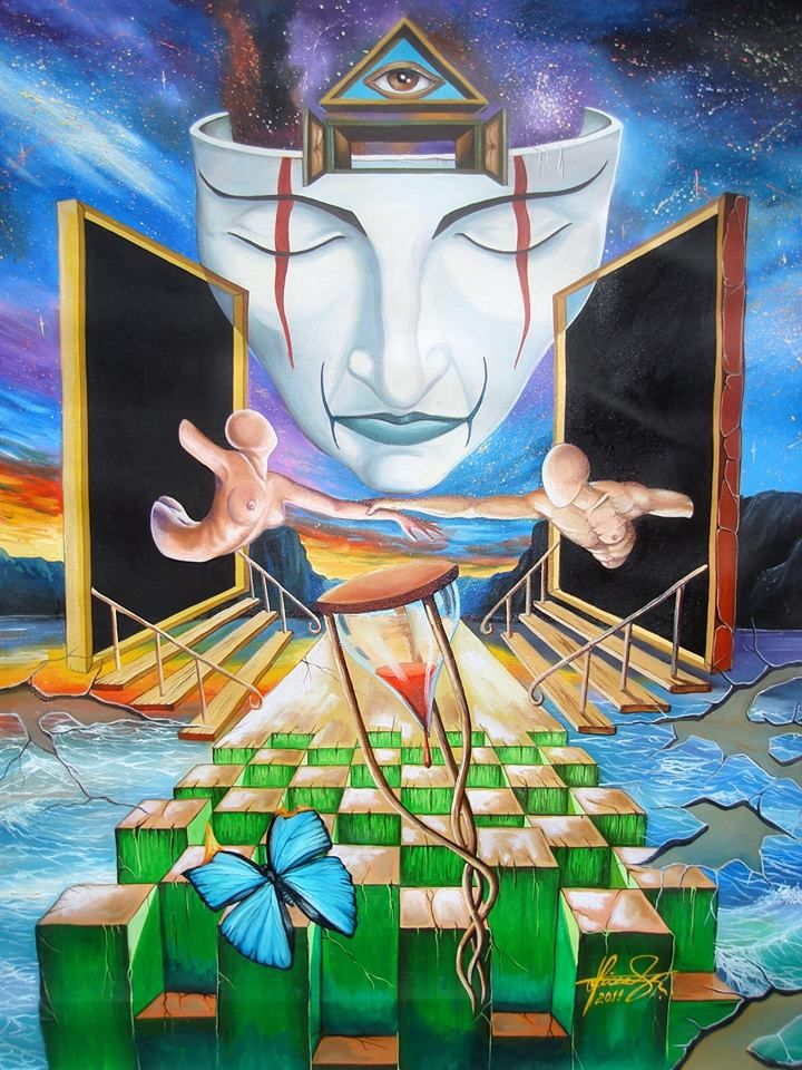 """""""The Guardian"""" - Oil on canvas. #MihaiRaceanuAdrian Facebook Page #art #painter #painting #surrealism"""