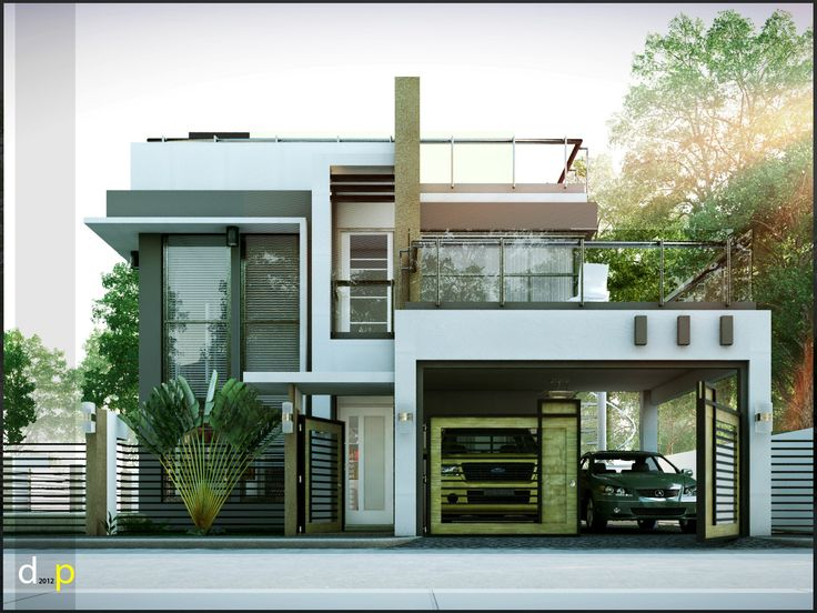 2 storey residence with roof deck
