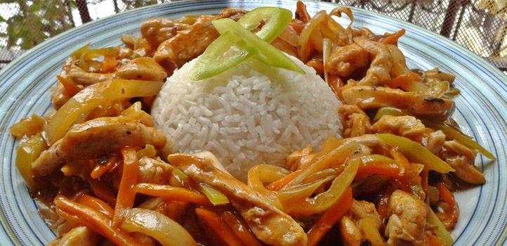 Kínai csípős csirkecsíkok