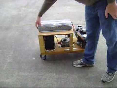 """The next time I stumble upon a """"prepper"""" website, someone stop me. I get way to caught up in that crap. However, this idea is genius for our area where the electric company is as reliable as the Illinois government.  Lawn mower generator with 12 volt battery and inverter"""
