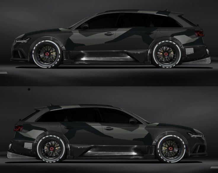Jon Olsson Audi RS6 im grauen Camo-Look