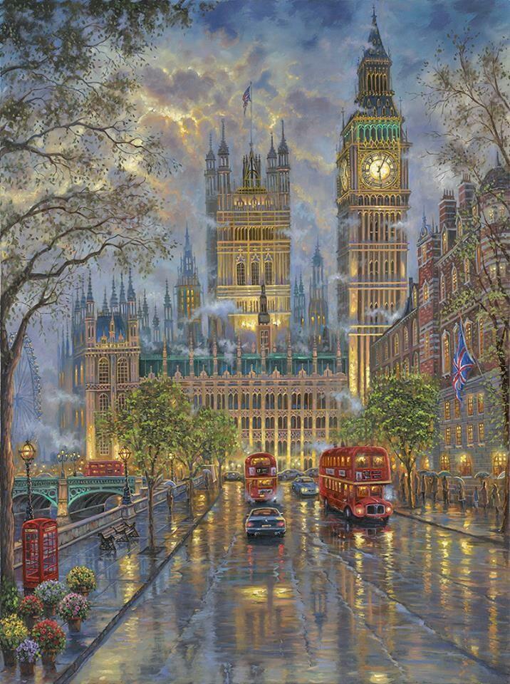 Artist Robert Finale ~ The Palace, Westminster London !!!!@@@@!!!!.....http://www.pinterest.com/senathayse/arte/