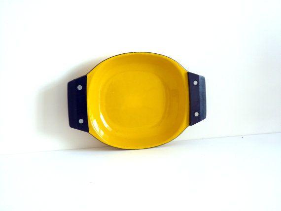 CathrineHolm enamel tray serving dish scampi dish by RetroForEva