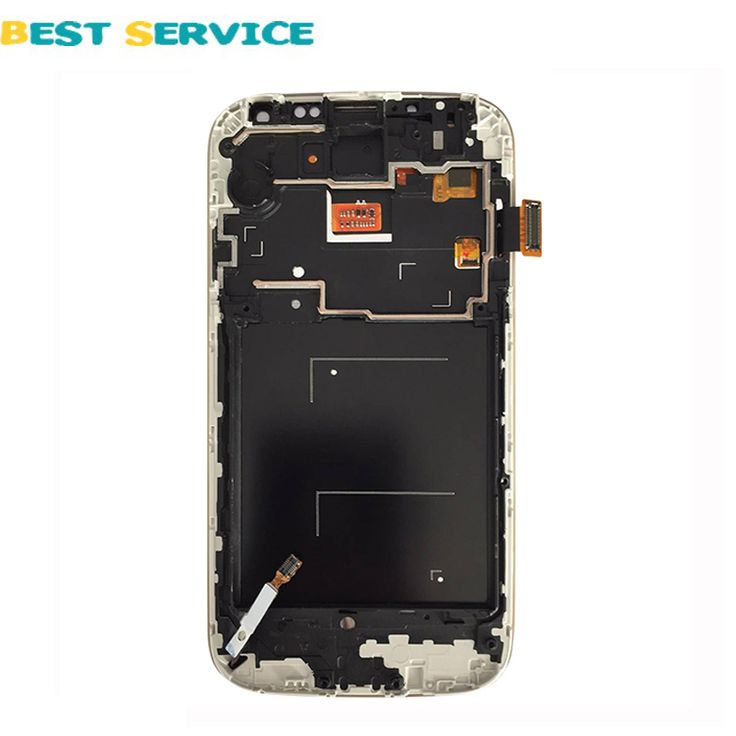 For Samsung For Galaxy S4 i9500 i9505 i337 LCD Display Touch Screen Digitizer With Frame White/Blue + Tools Free Shipping