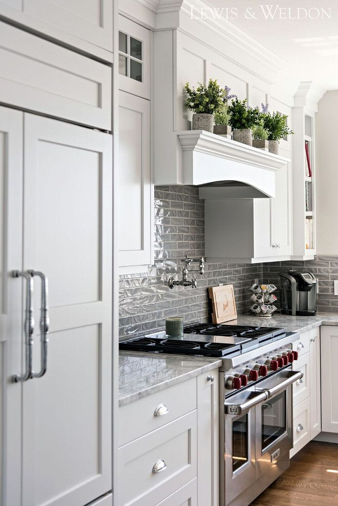 Benjamin Moore White - a true white paint color - white without pigment - perfect for real crisp white cabinetry