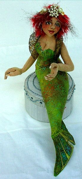 Siren, advanced cloth doll pattern, just so gorgeous