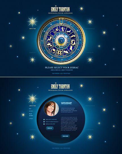 Astrology Website Template FREE Website Templates Pinterest