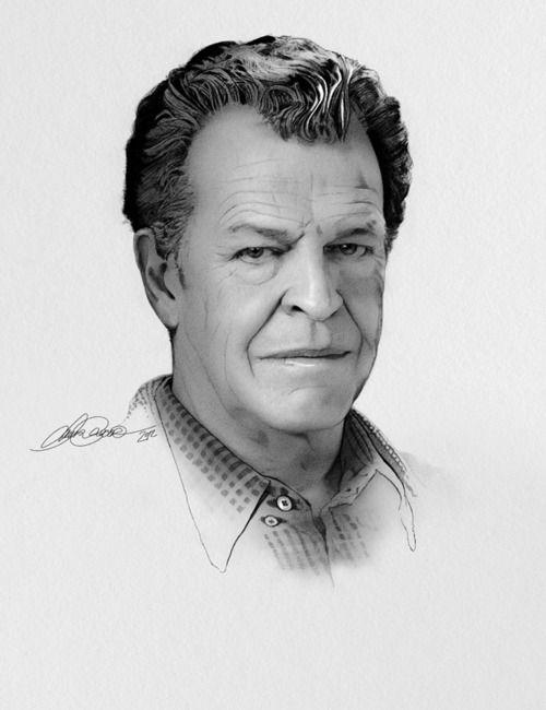 John Noble as Dr.Walter Bishop --pencil portrait #Fringe