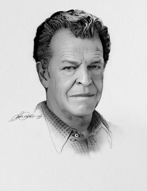 John Noble as Dr.Walter Bishop --pencil portrait #Fringe