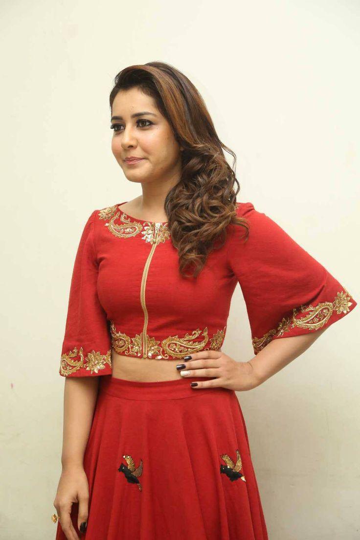 Rashi Khanna Latest Photos In Red Dress - Raashi Khanna