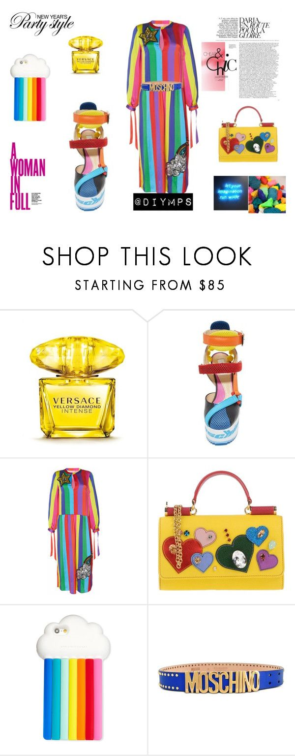 NEW YEAR'S PARTY STYLE, NY @DIYMPS by diymps on Polyvore featuring Mira Mikati, Moschino, Dolce&Gabbana, STELLA McCARTNEY and Versace