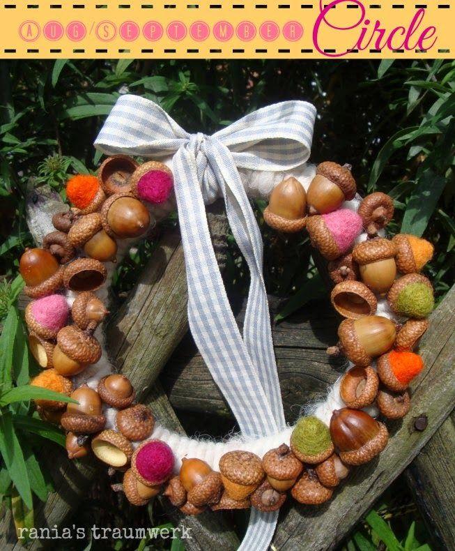 Eicheln mit Filzfrüchten