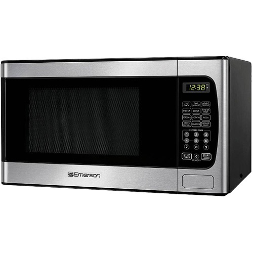 Emerson 0.9 cu ft Microwave Oven, Stainless Steel Front Finish - Walmart.com 59.00
