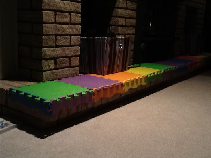 Baby Proof A Brick Fireplace With A Foam Playmat Family