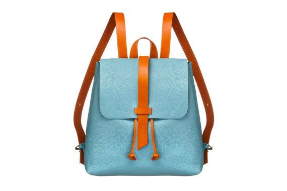 Leder Damen Rucksack, Lederrucksack, Leder-Einkaufstasche, Abendtasche blau, Frau kleiner Rucksack, Rucksack, Frauen Rucksack