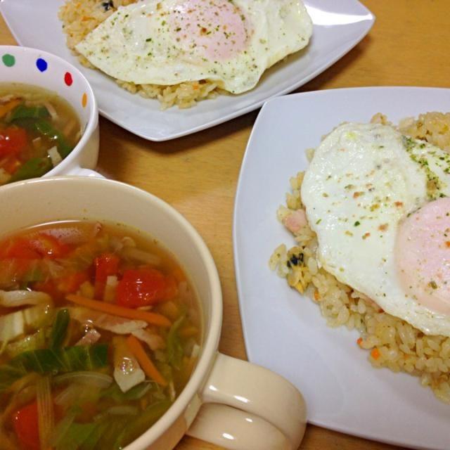 エビピラフを作りたかったが エビが我が家にはなかったので あさりのピラフ(;^_^A と、レンズ豆たっぷりのスープです\(^o^)/ - 54件のもぐもぐ - あさりピラフ  レンズ豆のスープ by ritsuxdai