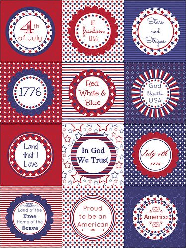Free 4th of july toppers