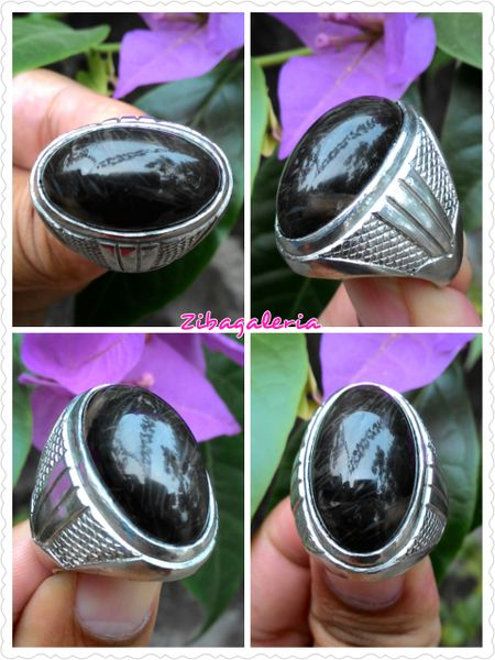 Produk menarik dari Bukalapak nih  Cincin Permata Yaman Wulung HQ | CN0032 | Perak Nikel Bali Ring Size 8