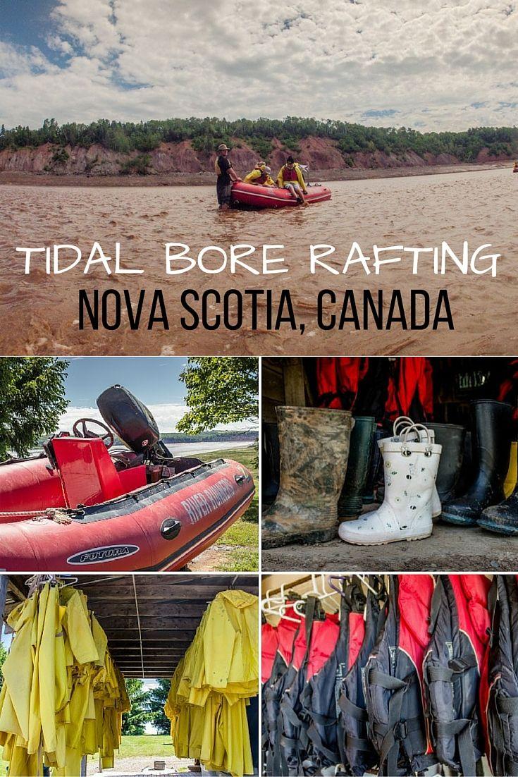 Tidal Bore Rafting in Maitland, Nova Scotia