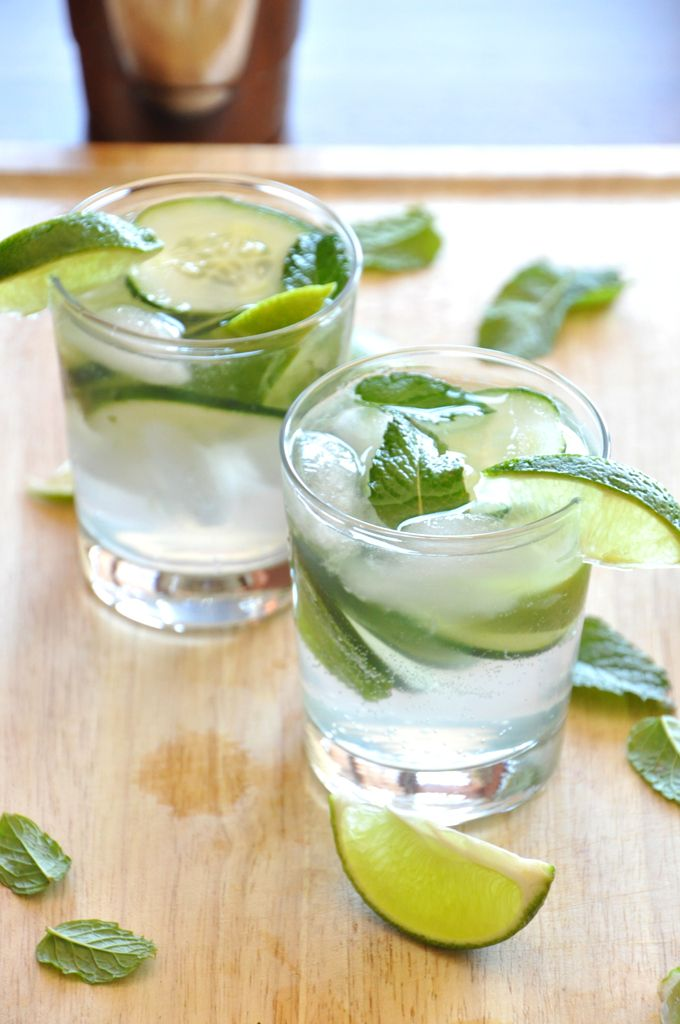 Cucumber Cooler Cocktails! I think I am going to try these tonight with my hubby! YUM. I had a similar drink when we went out to dinner last week.