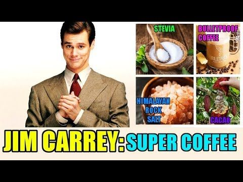 Jim Carrey And His Super Coffee : Bulletproof Coffee, Cacao, Stevia And ...