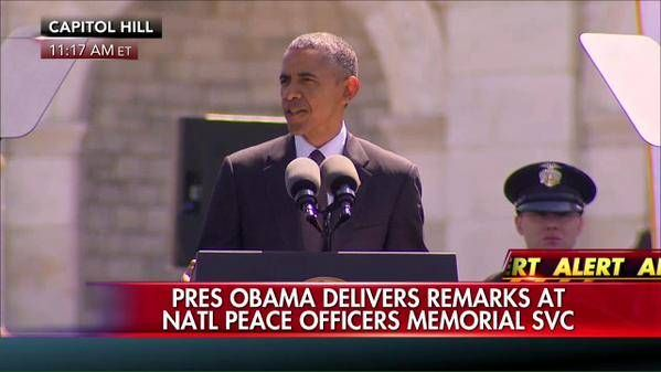 "Sheriff David Clarke: Obama ""Doesn't Believe a Word He Said"" at Police Memorial – ""Believes Cops Are Racist"" Posted by Jim Hoft on Friday, May 15, 2015, 1:58 PM"