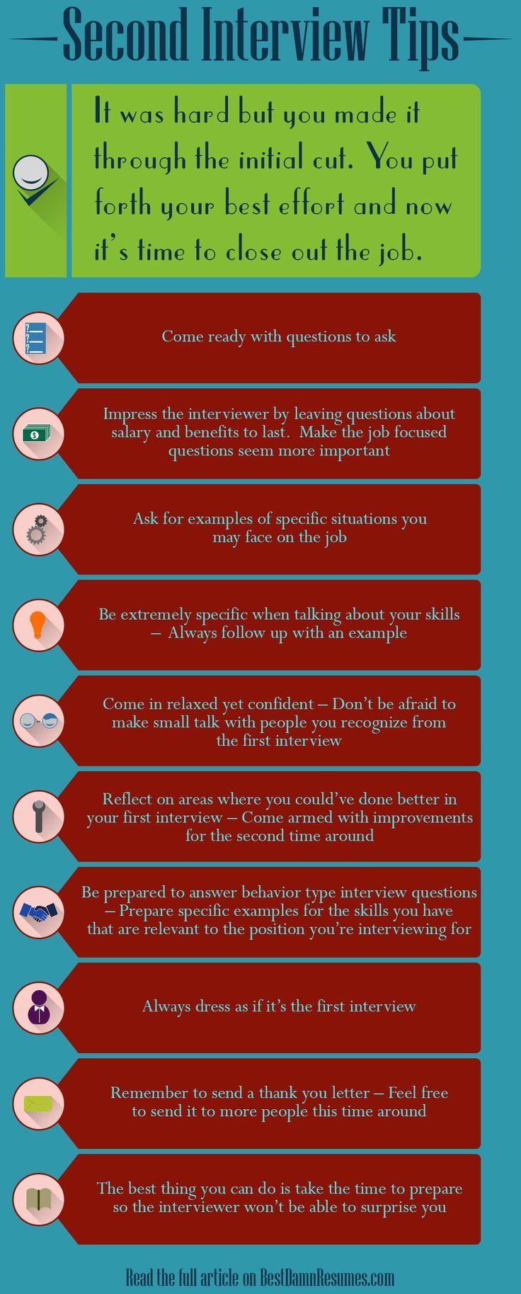 Best 25 Second Interview Tips Ideas On Pinterest Best Interview