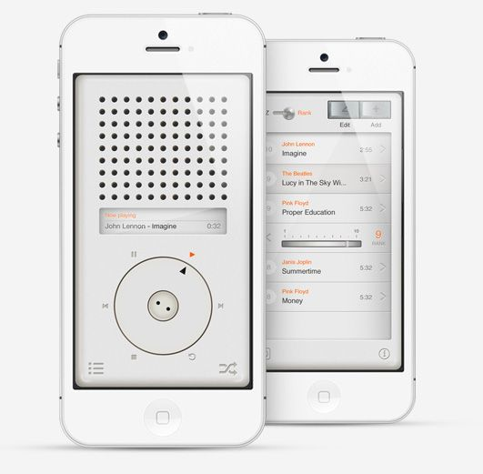 a beautiful looking music player app in the style of legendary designer Dieter Rams. Despite the minimalist design, the app contains just as many features as other players in a less cluttered environment. The T3 is compatible with the iPhone 4, 4S, and 5 and is currently available in 8 languages.