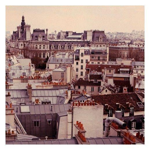 Paris Photograph - Paris Rooftops - French Photography - Paris Skyline - Original Signed Art