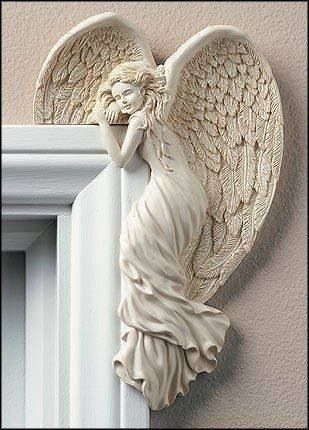 So lovely! An Angel resting at the Arch of your door