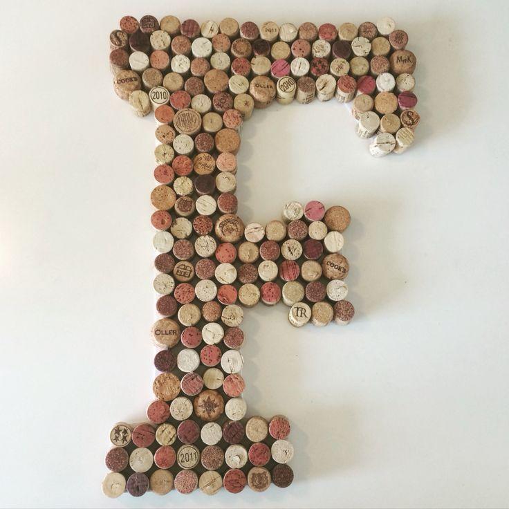 wine cork letter f
