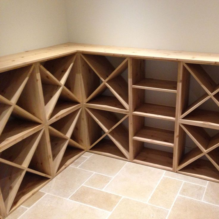 Pine Wooden Wine Rack - Cellar Cube - 24 Bottles - 223mm Deep, Wine Racks; UK Wine Rack Suppliers - www.wineware.co.uk
