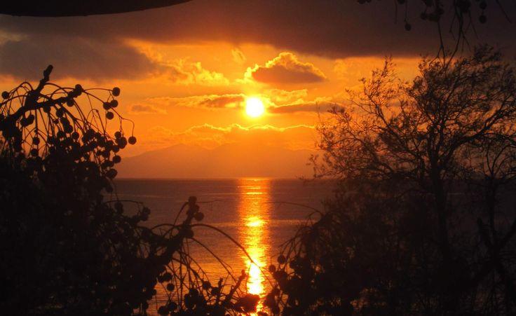 Perfect sunrise colors ! Kamari village !