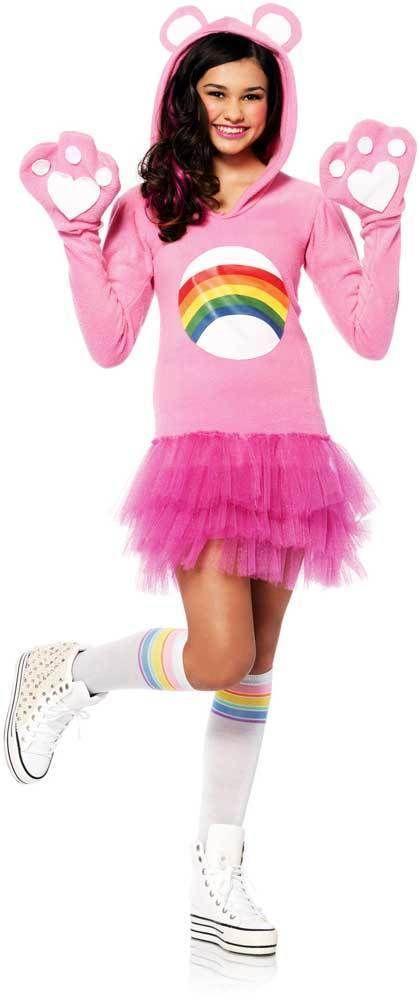 Cute Care Bear Cheer Bear Dress Licensed Halloween Costume Outfit Teen Girls #LegAvenue