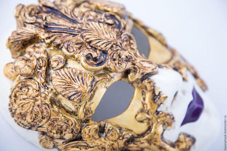 Купить Венецианская маска Dama Barocco - золотой, венецианская маска, венеция, маска, карнавал