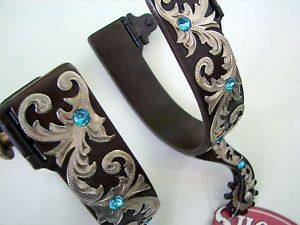 spurs for western boots | ... BLUE-BLING-WESTERN-SHOW-RODEO-FILIGREE-FLORAL-Antique-Spurs-Boot-Spur