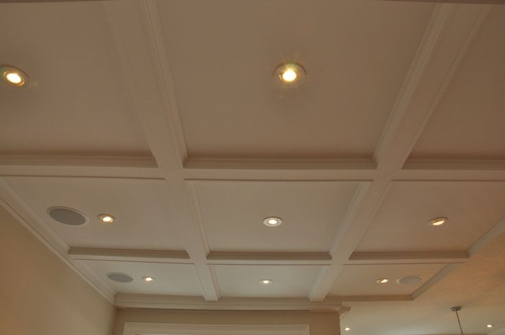 Coffered Ceiling I Used Pre Fab Styrofoam Beams Home Ceiling House