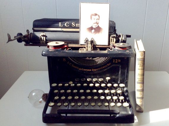 Rare Vintage 1930s 1931 L.C. Smith & Corona Typewriter