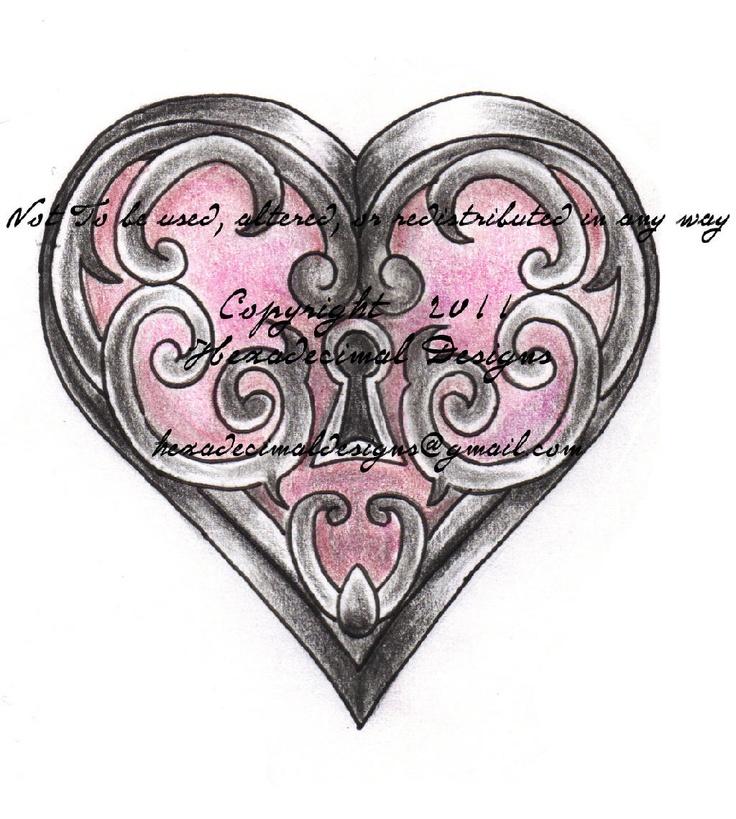 Ankle Tattoos Keys Hearts | Hexadecimal Designs | Wix.com