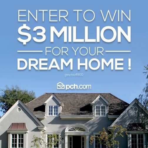 Pch 3 million dream home autos post for Win a home contest