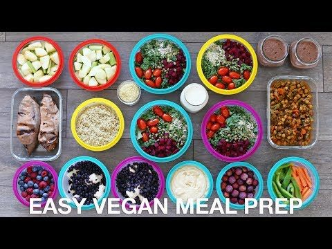 EASY VEGAN MEAL PREP | 12 Healthy Meals + Snacks - YouTube