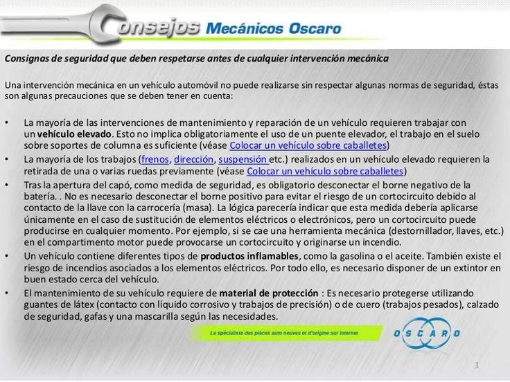 1-consignas-de-seguridad by Oscaro.es via Slideshare