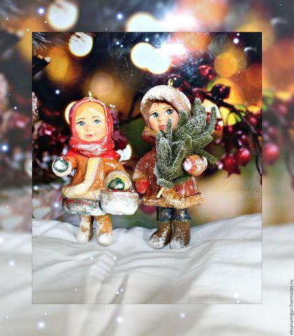 Купить или заказать В лес по...елочные украшения из ваты. в интернет-магазине на Ярмарке Мастеров. как же праздник без игрушек на елку..Представляю вам Ватные елочные игрушки, которые разбудят воспоминания о далеком детстве, станут самыми любимыми украшениями для ёлочки, наполнят дом теплом и уютом и станут самым приятным подарком Игрушки выполнены в винтажном стиле из натуральных материалов.Вата.Личико паперклей.Елочка выполнена из войлока.